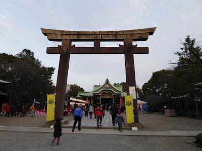 大阪城豊國神社 境内 鳥居と本殿