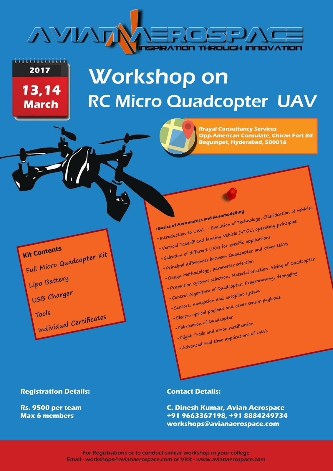Two day Workshop on RC Micro Quad Copter