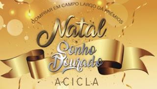 Cadastrar Promoção ACICLA Sonho Dourado Natal 1 Milhão Reais