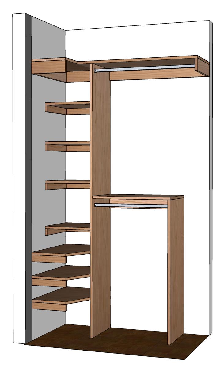 DIY Small Closet Organizer Plans