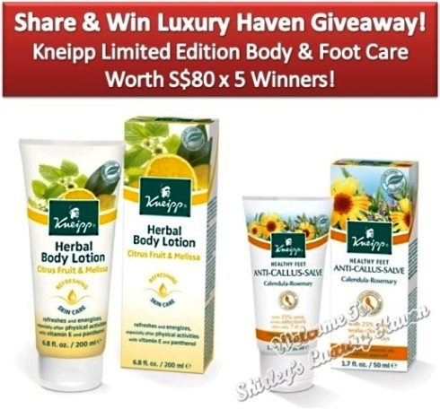 luxury haven kneipp happy feet giveaway