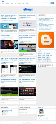eNews Responsive Blogger Template