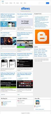 eNews Responsive Blogger Template