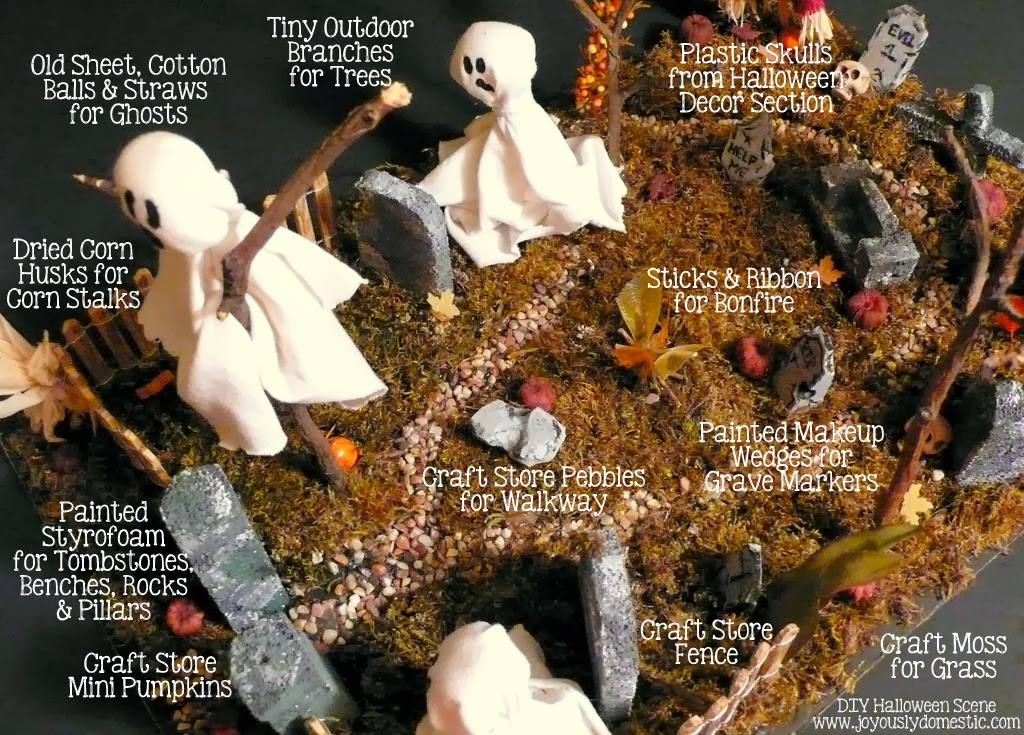 Joyously Domestic Diy Spooktacular Halloween Scene