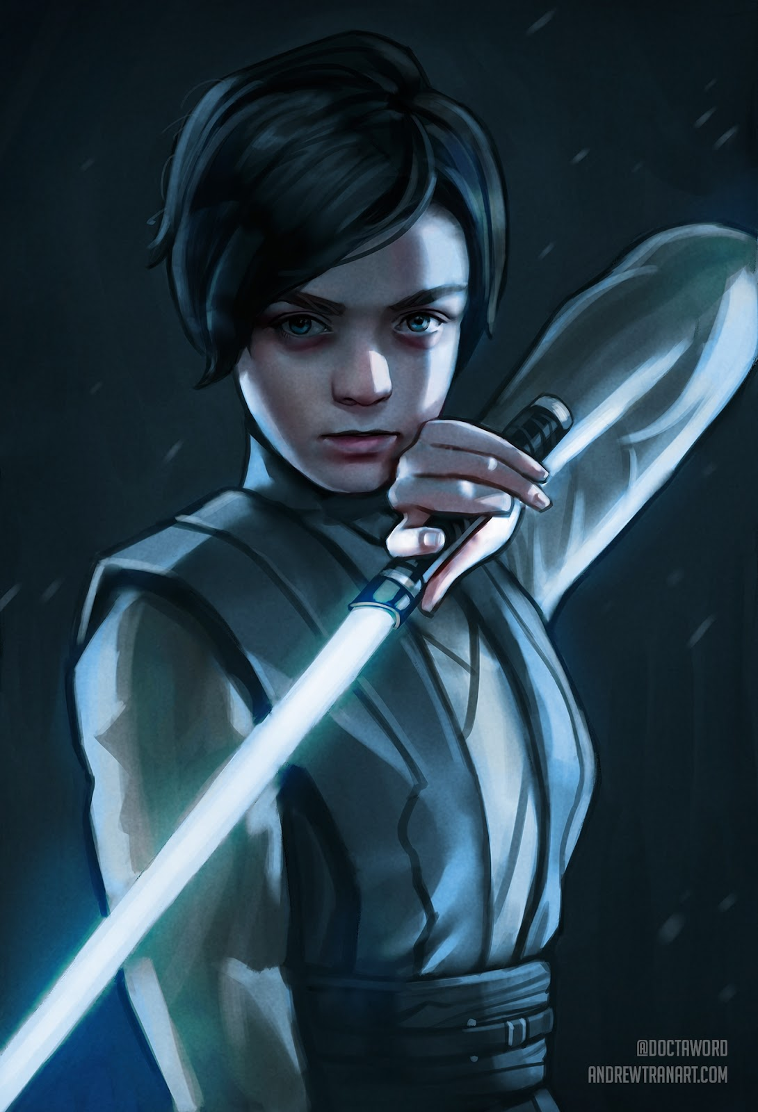 04-Arya-Stark-Maisie-Williams-Andrew-D-Tran-Doctaword-Star-Wars-and-Game-of-Thrones-Mashup-www-designstack-co