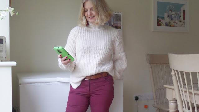 image showing M&S funnel neck jumper