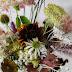 Kukka-asetelma omasta puutarhasta