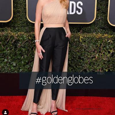el traje de pantalon de julia roberts en golden globes