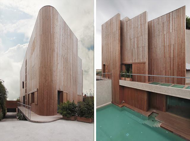 Revestimientos de madera en exterior espacios en madera for Exterior edificios