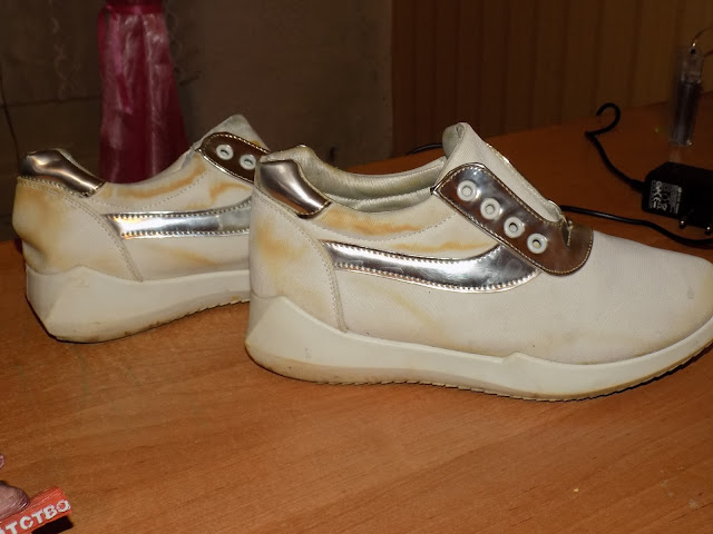 как высушить белые кроссовки чтобы не желтели