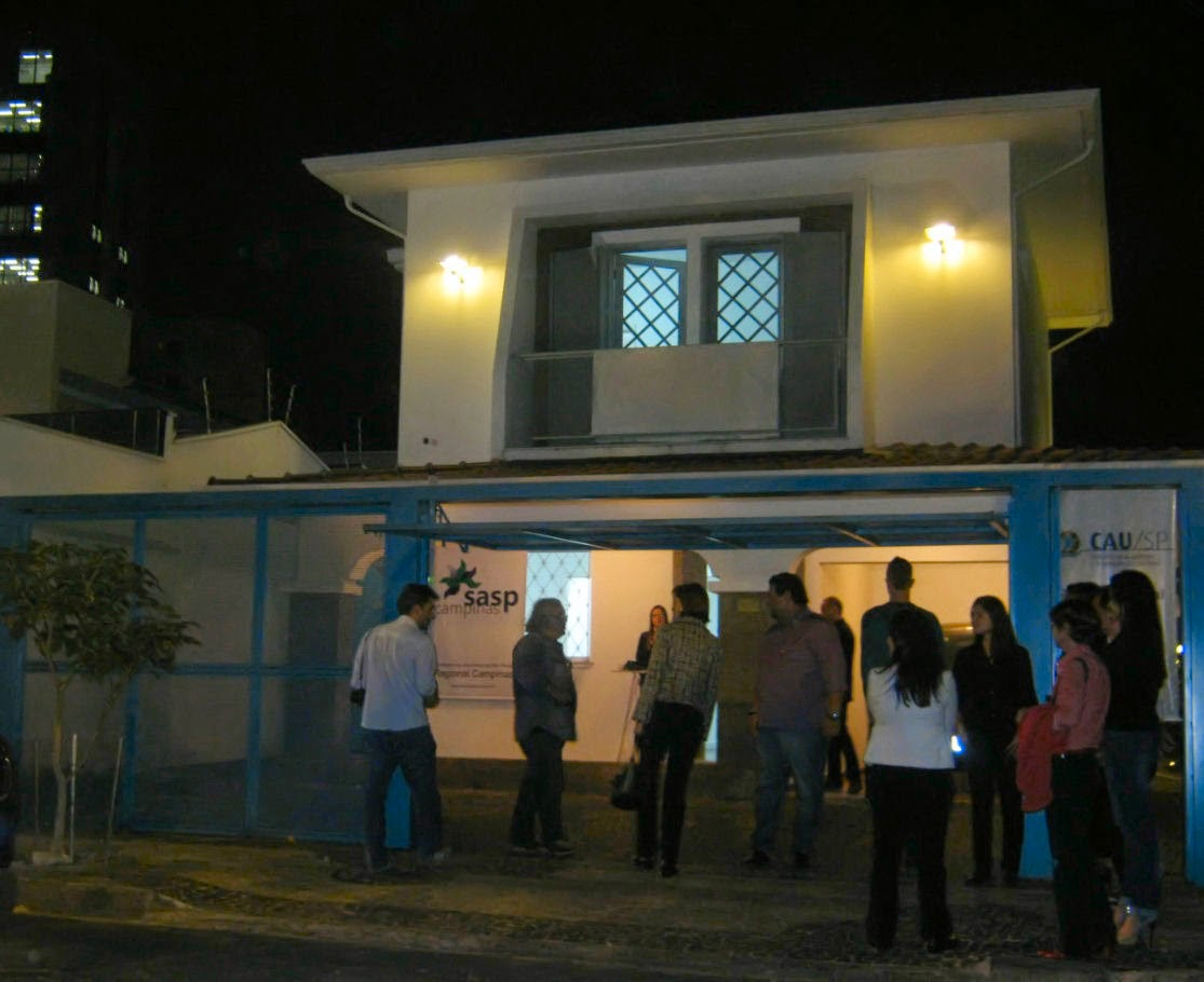A fachada da sede do CAU em Campinas: um antigo sobrado reformado no tradicional bairro de Botafogo.