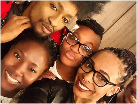 #BBNaija: TBoss, Marvis and Debie-Rise Meet Denrele & 2face [photos]
