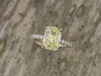 Precision Cut Yellow Sapphire White Gold Engagement Ring