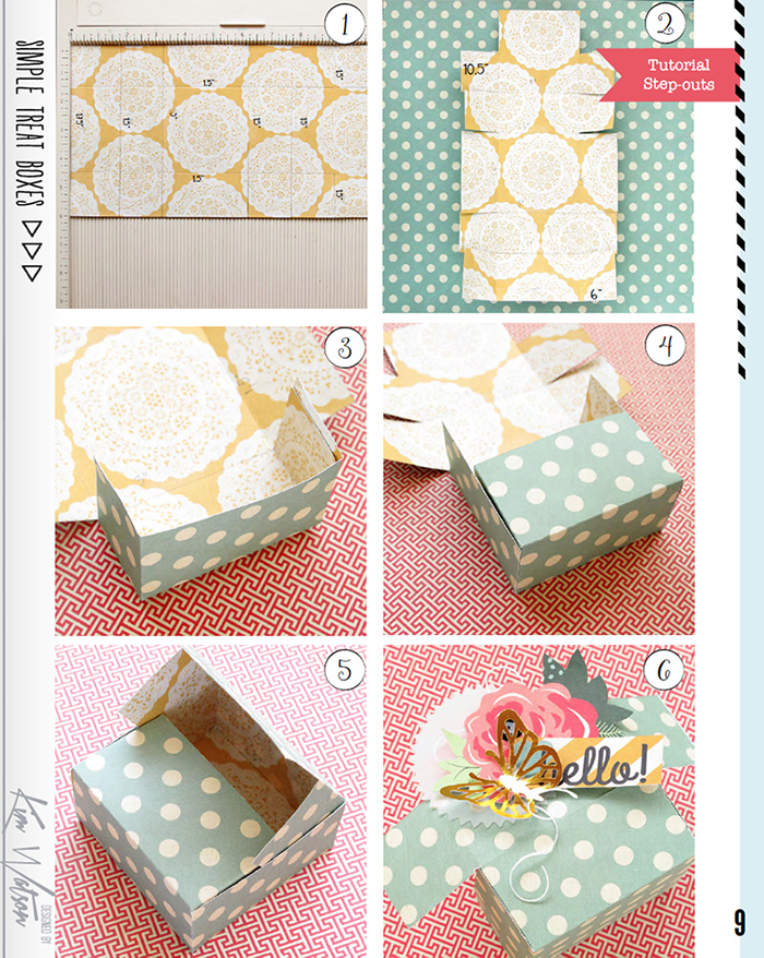 kim watson design papercraft how to make pretty paper gift boxes without a template. Black Bedroom Furniture Sets. Home Design Ideas