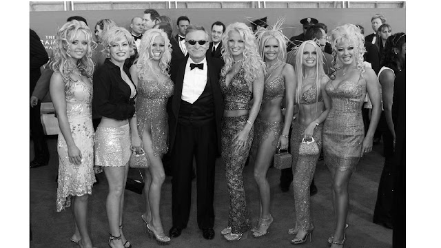 hugh hefner with women