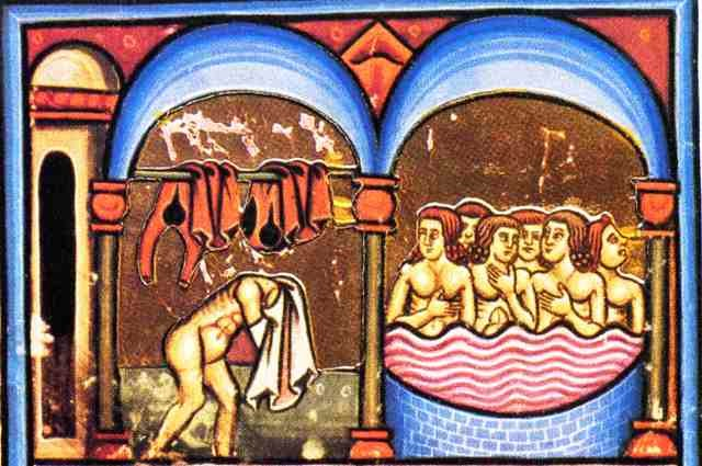 Baños Romanos Baden Baden:Detalle del apodyterium (vestuario) y del frigidarium (baño frío)