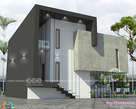 2400 sq-ft 4 BHK unique home design
