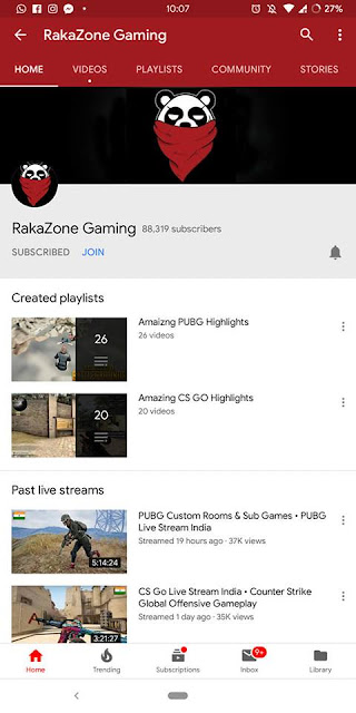 rakazone gaming youtube channel techxbyte.in