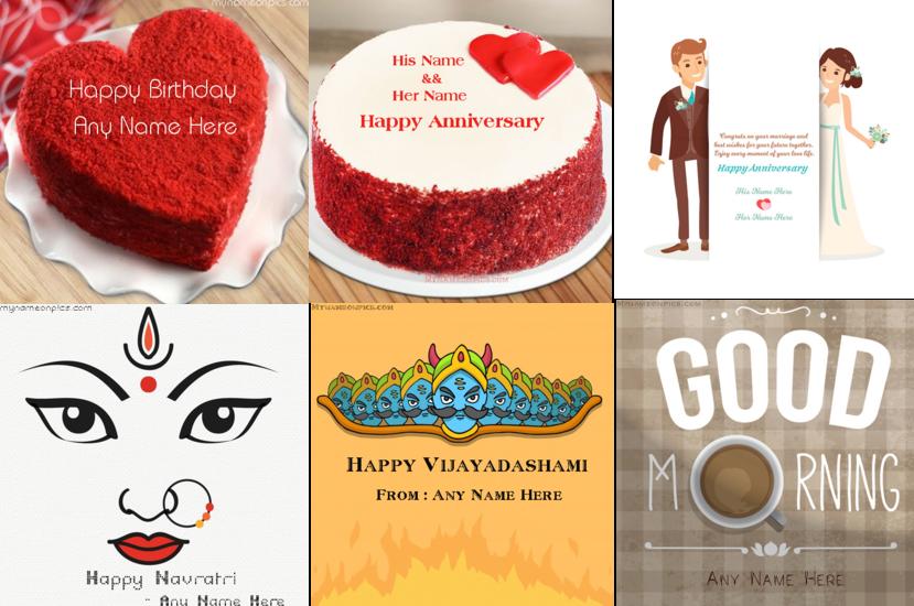 My Name On Pics - Birthday Cakes,Anniversary Card,Festivals & Love