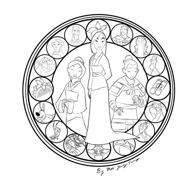 Free Disney Princess Mulan Coloring Pages For Girls Hb