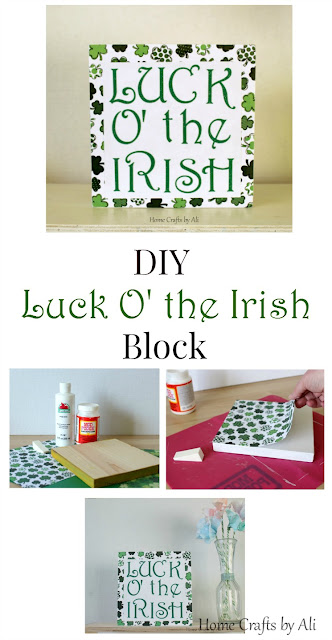 DIY Luck o' the Irish decor St Patrick's Day tutorial