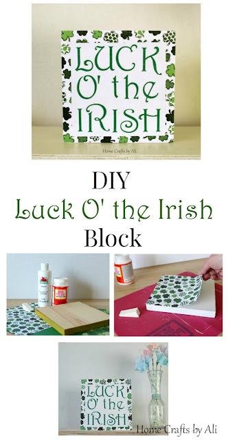 DIY Luck o' the Irish decor St Patrick's Day tutorial