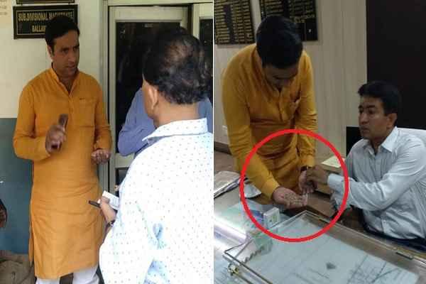 ballabhgarh-parshad-deepak-chaudhary-complaint-sdm-rashan-depo-scam