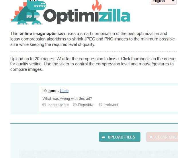 Image result for موقع Optimizilla لتصغير حجم الصور مع الحفاظ على جودتها