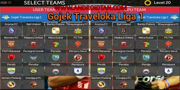 FTS 17 Mod Liga Indonesia Gojek Traveloka Indonesia