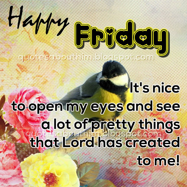 Happy friday card with christian text