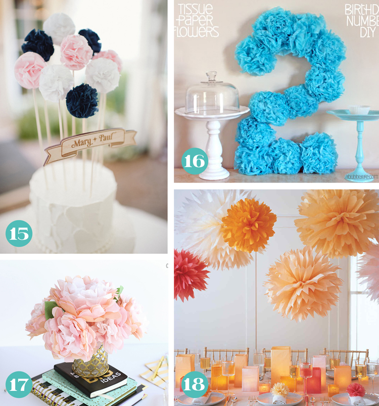 Tissue Paper Flower Party Decorations