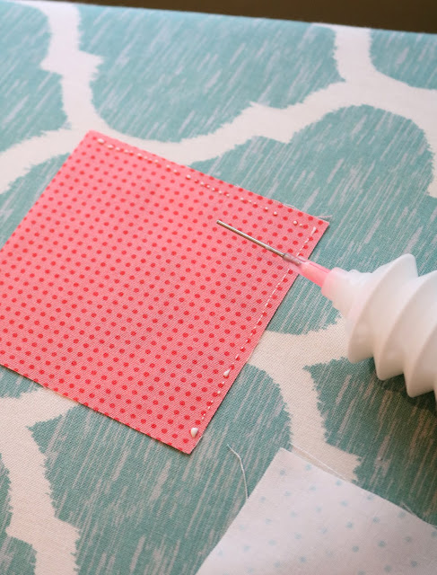 Tips for using glue basting instead of pins!  A Bright Corner blog