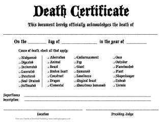 Certificado de Morte