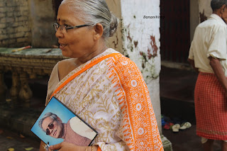 Smt. Purnima Sen didn't leave her husband for a moment, Late Sri Samir Kumar Sen