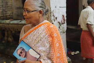 Smt. Purnima Sen didn't leave her husband for a moment, Late Sri Samir Kumar Sen