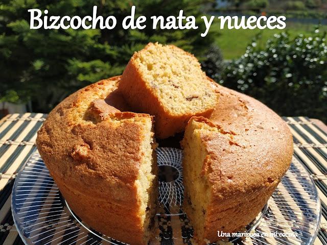 Bizcocho De Nata Y Nueces