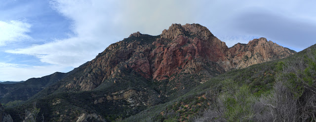 red rocks above