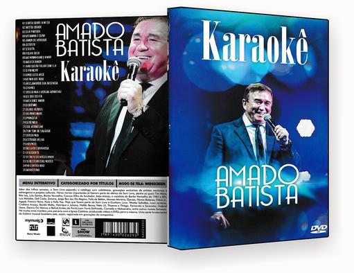 CAPA DVD – KARAOKÊ AMADO BATISTA DVD-R
