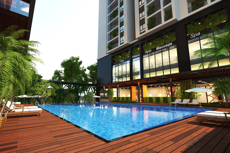 Bể bơi chung cư Five Star Garden