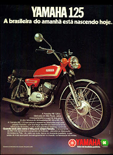 propaganda moto Yamaha 125 - 1977; brazilians car in the 70s; reclame de carros anos 70. brazilian advertising cars in the 70. os anos 70. história da década de 70; Brazil in the 70s; propaganda carros anos 70; Oswaldo Hernandez;