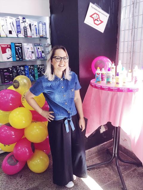 blogueira de campinas mostra look do dia em evento na spasso cosméticos