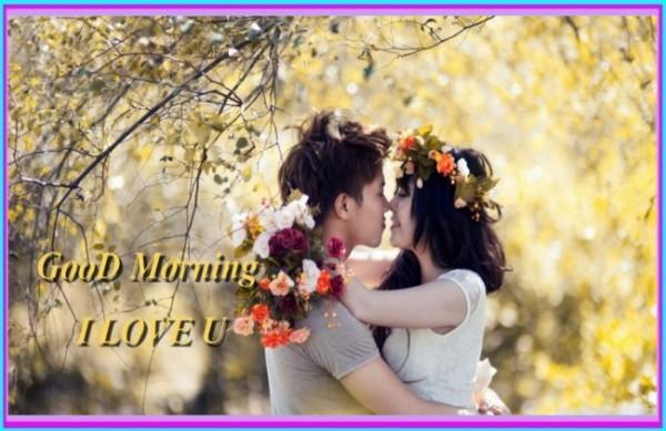 Good morning love u couple images