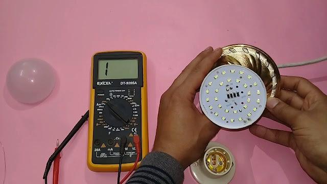 تصليح اللمبة الليد فى 6 دقائق فقط Repair LED LIGHT Bulb IN 6 MINUTES