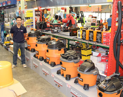 Ridgid Wet Dry Shop Vac Buriram Isaan Thailand Display