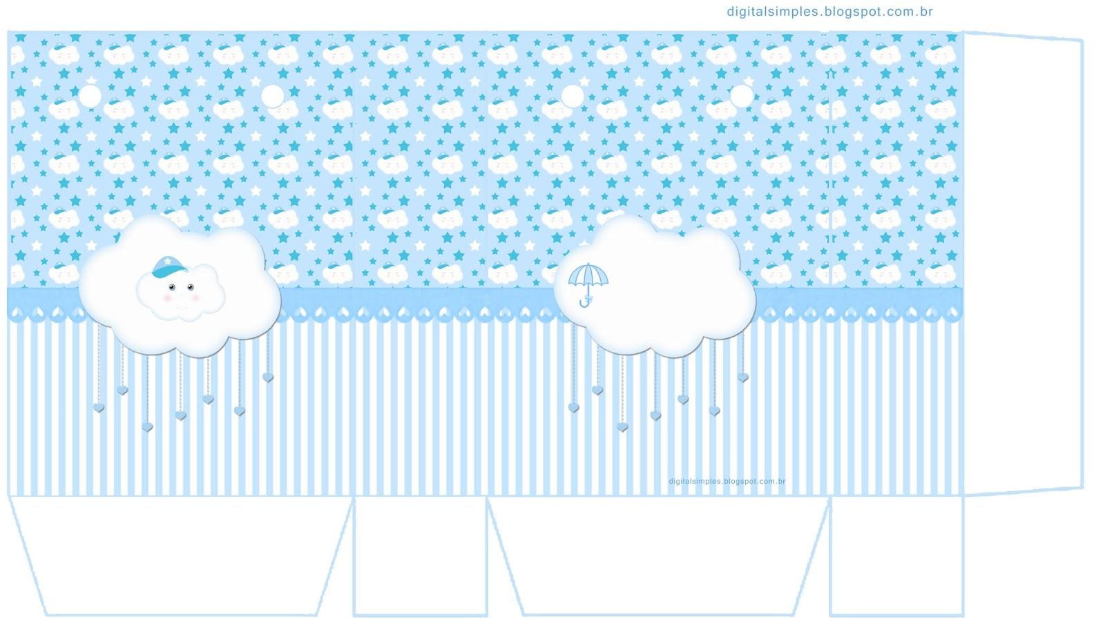 Light Blue Rain Of Blessings Or Rain Of Love Free Printable Boxes