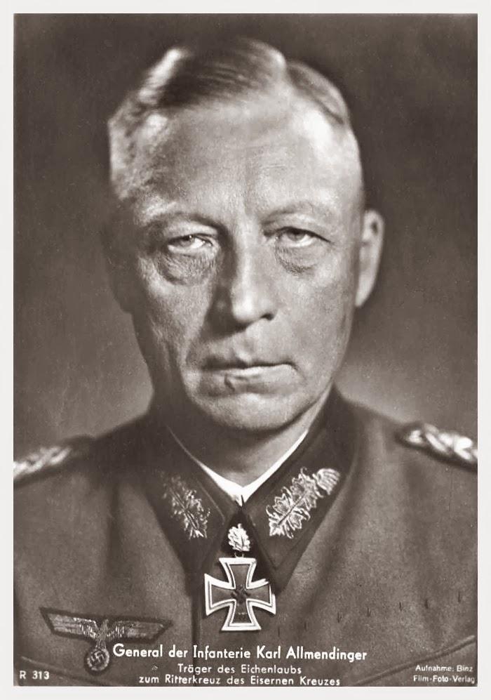 Karl Allmendinger Ritterkreuzträger Knight Cross Holder Postcard