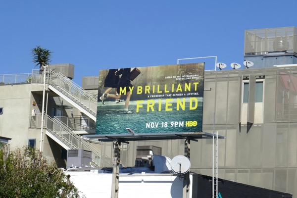 My Brilliant Friend TV billboard