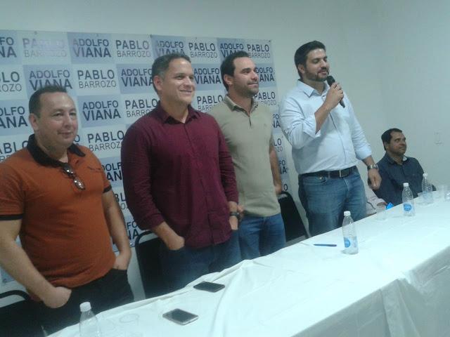 Em Itaberaba, Pablo Barrozo destaca força e vontade de mudança do grupo político