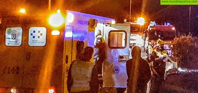 Una persona resulta gravemente herida en un vuelco en Los Llanos de Aridane