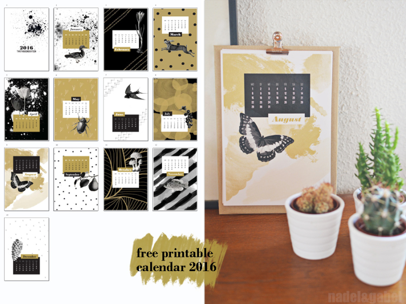 kalendarz 2016 do pobrania za darmo